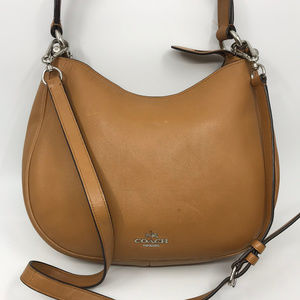 COACH Brown Pure Leather Crossbody Bag